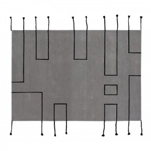 Dywan Wool Rug Nordic Lines Light Grey 240x170 cm, LORENA CANALS