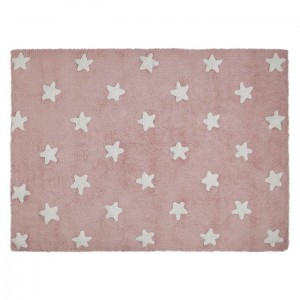 Dywan Pink Stars White 160x120 cm, LORENA CANALS