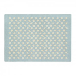 Dywan Wool Rug Little Stars Soft Blue 200x140 cm, LORENA CANALS
