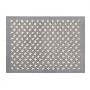 Dywan Wool Rug Little Stars Light Grey 200x140 cm, LORENA CANALS