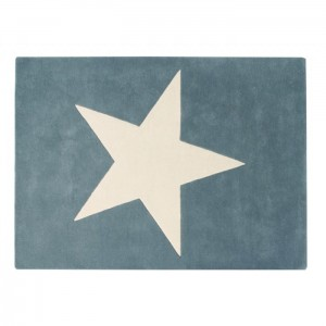 Dywan Wool Rug Big Star Vintage Blue 200x140 cm, LORENA CANALS