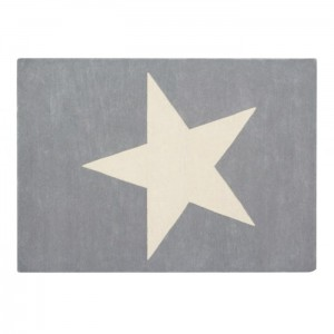 Dywan Wool Rug Big Star Light Grey 200x140 cm, LORENA CANALS