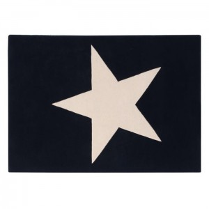 Dywan Wool Rug Big Star Black 200x140 cm, LORENA CANALS